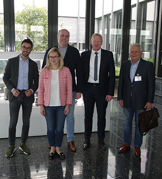 The team of EUROSHLIF together with Klaus Wehmeyer and Florian Musaj in BERG's foyer